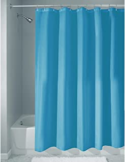iDesign Fabric Shower Curtain, Water-Repellent and Mold- and Mildew-Resistant Liner for Master, Guest, Kid's, College Dorm...