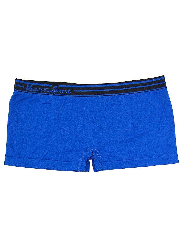 大きめサイズ 妊婦もOK! 女性ボクサーパンツ 柔らか素材でぴったりフィット 全8色 (ブルー)
