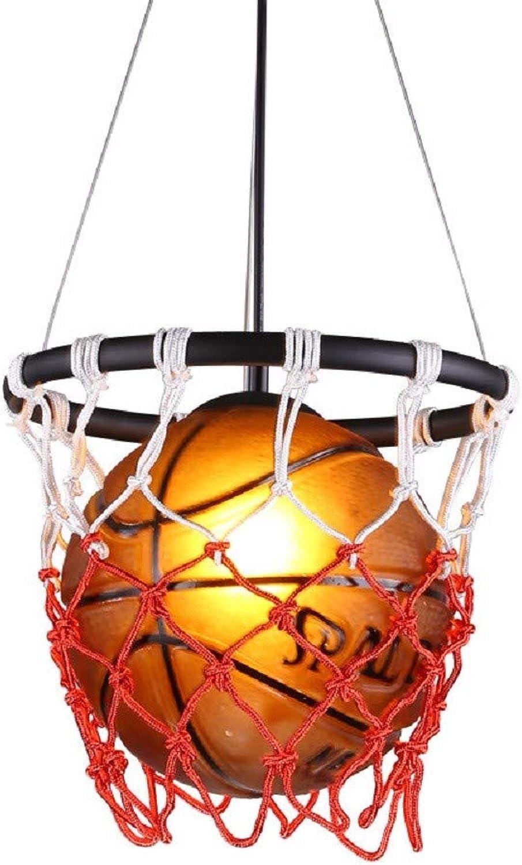 ZHZR Plafonnier Lustre Suspension American Basketball Pandent Lampe Creative Restaurant Bar Restaurant Bar Terrasse Gymnase Sport Thème Art Lumières D32cm H58cm