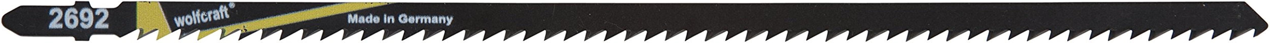 Wolfcraft 2692000 brzeszczot do wyrzynarki z trzonkiem T, CV, do drewna i tworzywa sztucznego, precyzyjne cięcie