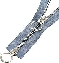 Ykk cremallera 1 camino divisible azul marino 75 cm metal dientes de metal