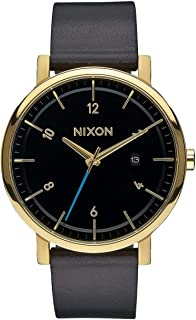 Nixon Rollo Simple Mid-Century Modern Men's Watch (42mm. Stitchless Leather Band)