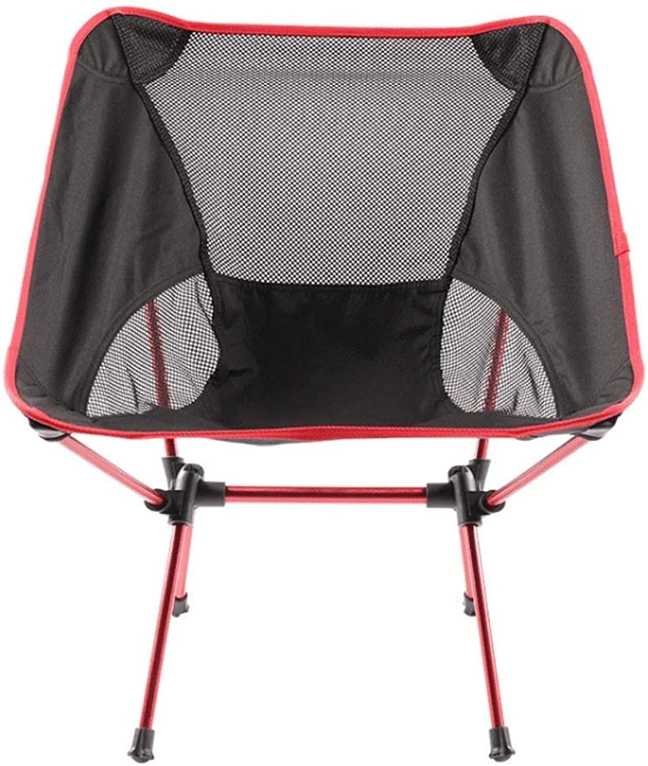 Camping Chairs Lightweight Breathable Folding Compact Portable Moon Chair Festival Beach Fishing Seat,Red