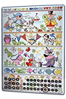 カレンダー Perpetual Calendar Nursery Lindner Fairy Tale Animals Tin Metal Magnetic