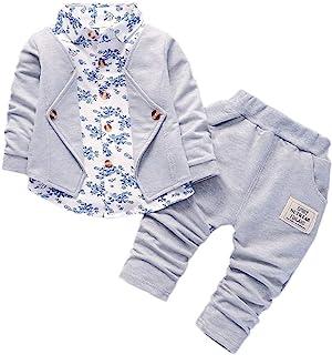 comprar comparacion Ropa Bebe Niño otoño Invierno 2018, Conjunto de Ropa para bebé niños de Caballeros Trajes de Fiesta del Boda Formal Camisa...