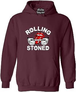 ShirtStarZone Rolling Stoned 420 Marijuana Joint Smokers Weed Related Hoodie