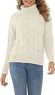 Lazapa Fall Winter Sweaters for Women, Turtleneck Twist Knit Sweaters Loose Casual Pullover Tops Match Slacks, Jeans