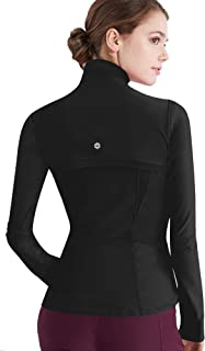 Lock and Love Women's Full Zip-up Yoga Workout Running Track Jacket with Thumb Holes