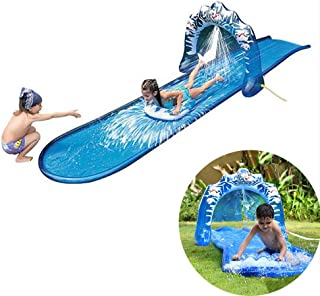 World of Watersports Giant Backyard Waterslide, High Side Walls, Built in Sprinkler, 16 Feet x3 Feet