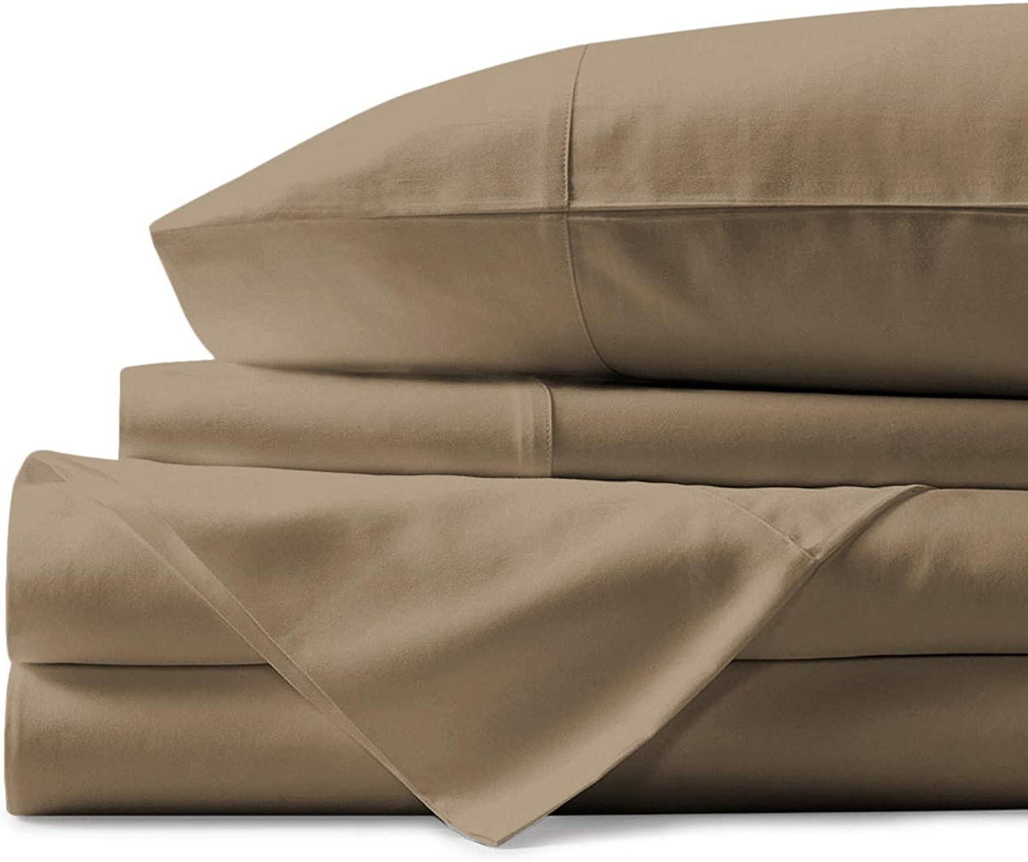 Mayfair Linen Hotel Collection 100% Egyptian Cotton- Genuine 800Tc Sheet Set (California King, Taupe)