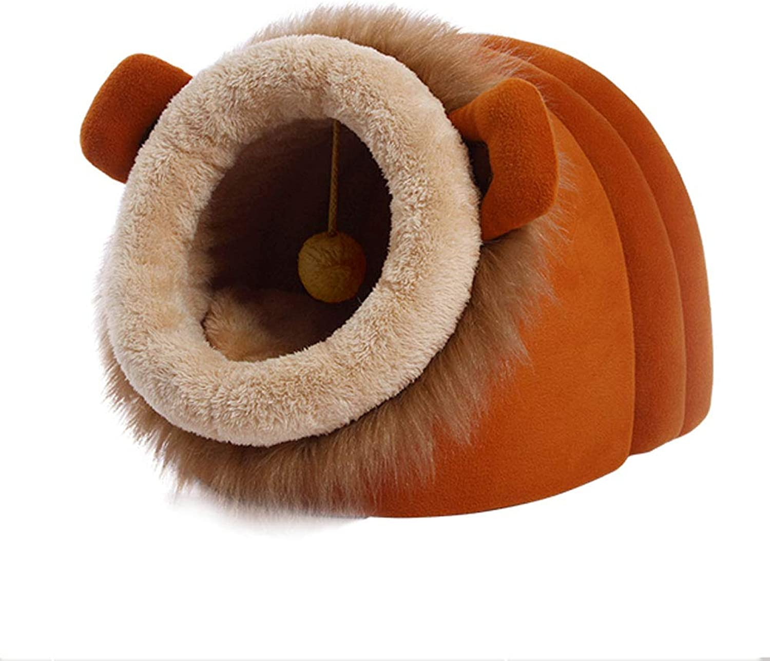 GCHOME Dog bed Cat Bed,Washable Nonslip Dog Kennel Cat Nest Sleeping Bag,Removable Waterproof Breathable Plush Warm Cushion Small Pet Nest (Size   M)