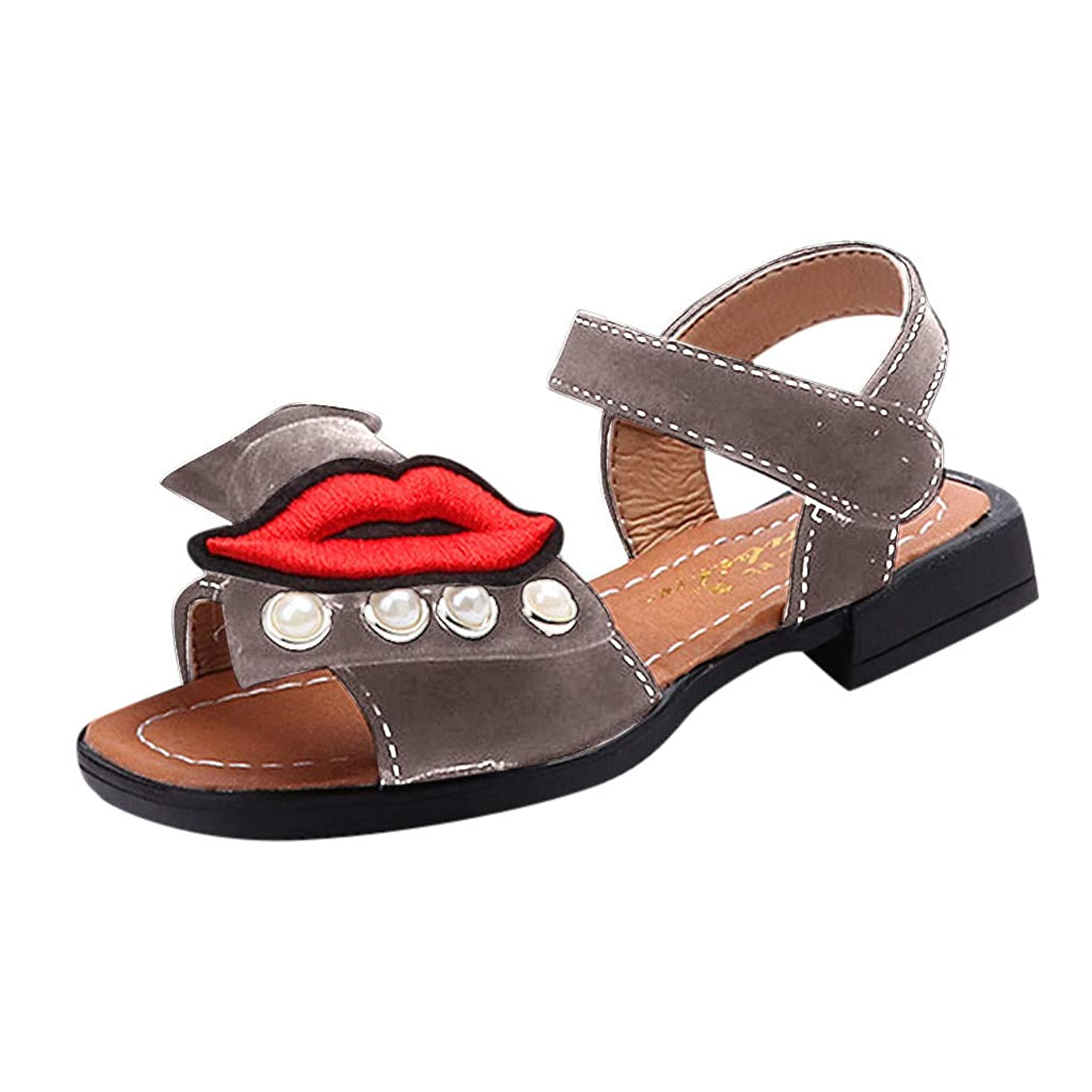 Respctful?Kids Girls Beach Sandals Summer Cute Bow Knot Princess Dress Child Strap Leather Shoes