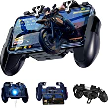 PUBG Mobile Game Controller, LEIZHAN Gamepad Grip Game Trigger Joystick with Cooling Fan for 4.7-6.5 Inch Android & iOS Ph...