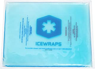 IceWraps Gel Ice Pack Reusable Large Hot Cold Pack for Therapy or Heating Pad Microwavable for Injury Pain Relief 10