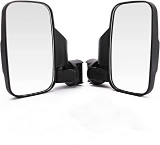 OKSTNO Set of 2 UTV Rear View / Side Mirror Break Away Offroad Mirrors for 1.5 - 2 Inch Mount Polaris RZR 900S XP 1000 Can Am Maverick X3 John Deere Gator Mirrors