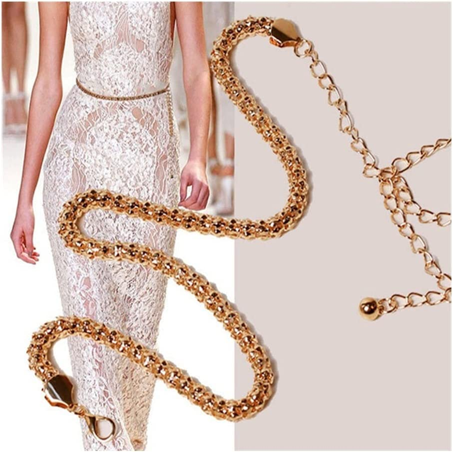 LCKJ Fashion Low price Women Sexy Gold Plated Waistband Over item handling Thin Belt Chain Me