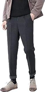 CHANGE WELL メンズ ストレッチ ウール スーツパンツ スラックス アウトタック きれいめ オールシーズン スリム 防シワ