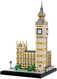 dOvOb Micro Blocks Big Ben Building Blocks Set (3600PCS) - World Famous Architectural Model Toys Gifts for Kid and Adult