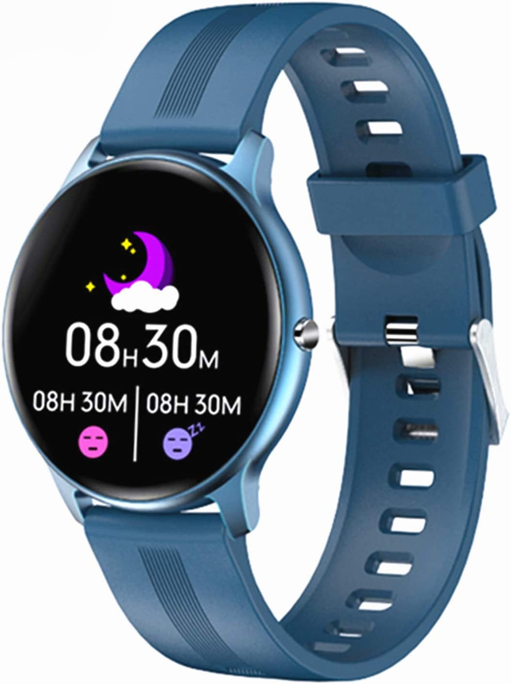 NXL Smartwatch Mujer Hombre Reloj Inteligente Fitness GPS con Competidor Simulador, con 24H Monitor De Ritmo Cardíaco Y Sueño, Smartwatch Despertador Cronómetro Y Pronóstico del Tiempo