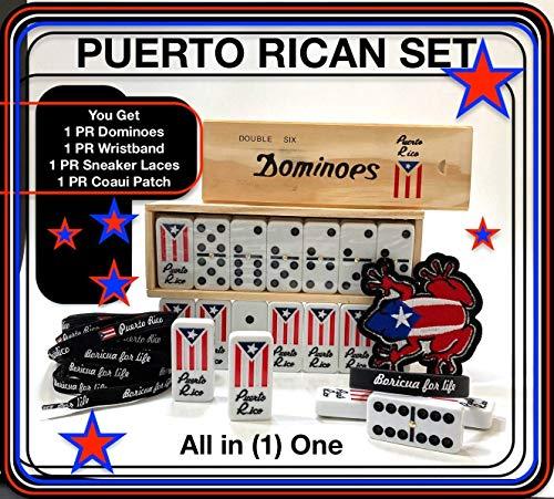 Puerto Rico Flags Dominoes Puerto Rican Boricua Gift Pack Domino de Puerto Rico