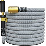 TITAN 150FT Garden Hose - All New Expandable Water Hose with Triple Latex Core 3/4' Easy Removal Solid Brass Fittings Expanding Extra Strength Fabric Flexible Hose with Jet Nozzle and Washers (G)