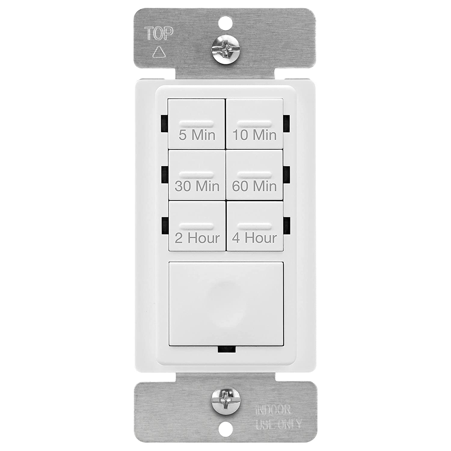 ENERLITES Countdown Timer Switch, Fan Switch Timer, Wall Light Timer  Switch, Bathroom Timer Switch, 20 min – 20 hours, Night Light LED Indicator,  ...