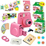 Fujifilm Instax Mini 9 Instant Camera Flamingo Pink w/Fujifilm Instax Mini 9 Instant Films (60 Pack) + A14 Pc Deluxe Bundle for Fujifilm Instax Mini 9 Camera