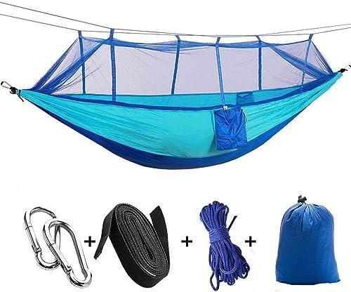 JKLL Hamac Simple Double Camping Léger Parachute portable Hamac pour Randonnée en Plein Air Voyage Randonnée - Nylon Hamac Swing