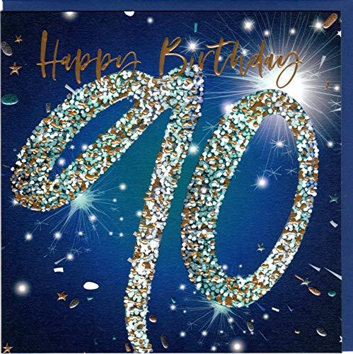 Belly Button Designs hochwertige Glückwunschkarte zum runden 90. Geburtstag.
