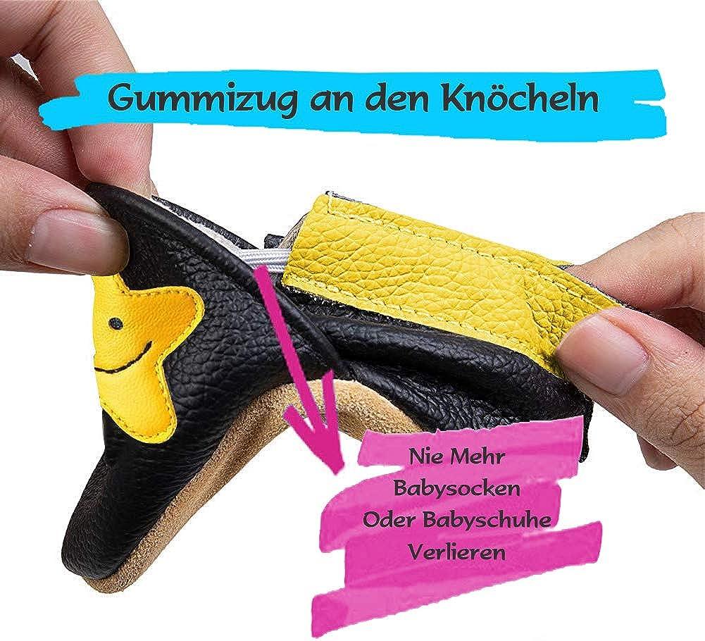 Chaussons B/éb/é Premiers Pas Chaussures Gar/çon Fille Cuir Souple B/éb/é antid/érapants Mignon Color/ée Animaux Pantoufles