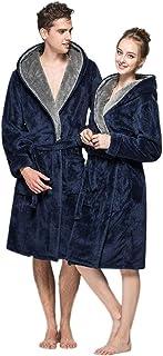 46099f1428cfe ZYUEER Peignoir à Capuche en Polyester Unisex- TrèS Doux - pour Homme Et  Femme Mode