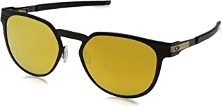 Oakley Diecutter Non-Polarized Iridium Round Sunglasses, Satin Black, 55.0 mm