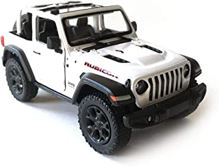 HCK Jeep Wrangler Rubicon 4x4 Convertible Off-Road Exploration Diecast Model Toy Car in White