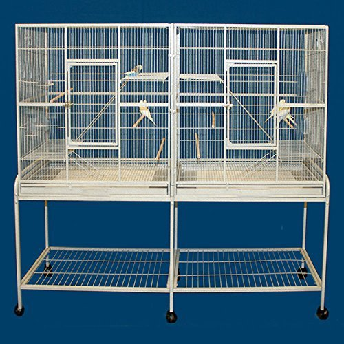 Mcage Large Double Flight Bird Wrought Iron Double Cage