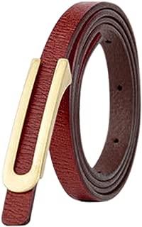 uxcell Women Press Buckle Adjustable Skinny PU Waist Belt