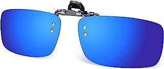 Besgoods Polarized Clip-on Glasses Metal Clip Flip up Sunglasses Driving Sport