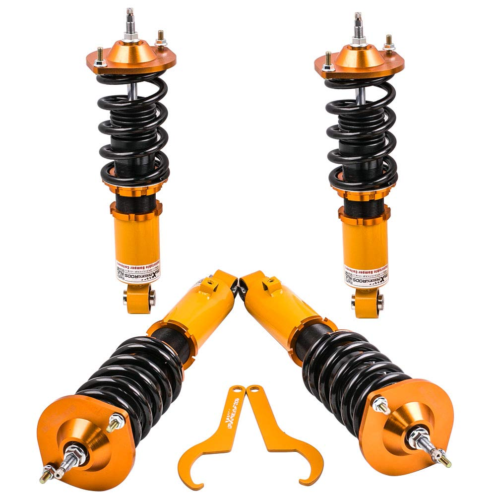 Coilover Suspensions Shock Struts Kits Assembly Full Set Shocks Struts Kits fit for 1990-2005 Mazda Miata Golden