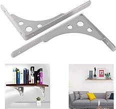25 cm metalen plankbeugel, L-vormige haakse driehoekige planksteun, 40 cm zwevende wandmontagebeugels met gaten, dubbel ge...