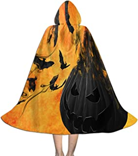 Kids Cloak Cape with Hooded, Cosplay Costume Cape Halloween Decoration