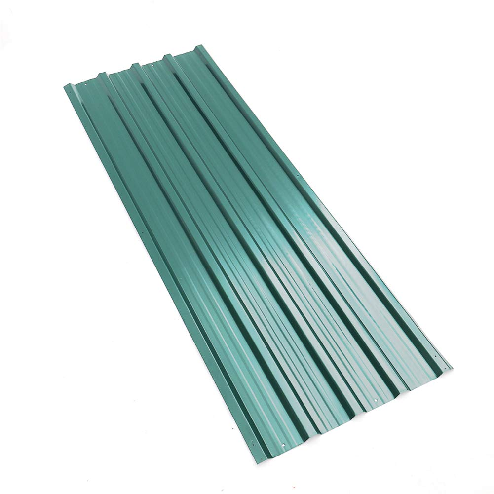 Set Of 12 Shed Roof Panel Sheets 1290 X 450 Mm Greenhouse Metal Roofs Panels Steel Roofing Tools Green Amazon Co Uk Diy Tools