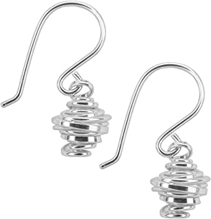 5969807b4 Handmade 925 Sterling Silver Coil Wire Drop Hook Earrings with Free Gift  Packaging by Otis Jaxon