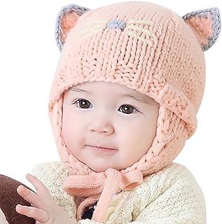 b53d92a3237 Iuhan Cat Cartoon Baby Boys Girls Earflaps Cap Kids Knitting Winter Warm  Ball Hats