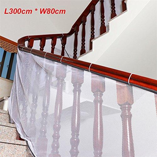Treppenschutzgitter Treppennetz Treppe Geländer Balkon Zaun Mesh Schutz Net für Kinder Baby Haustier