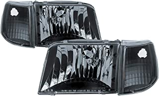 MPH 1993-1997 Ford Ranger AMBK OEM Driver & Passenger Replacement Headlights Lamps Assembly