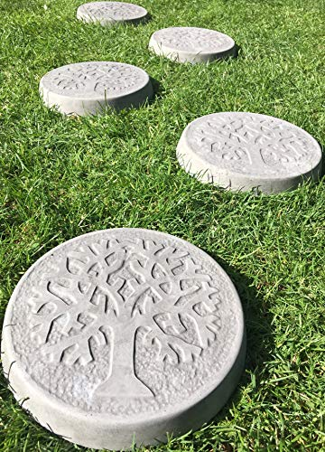 Stepping Stones Tree Of Life - Pack of 6 - Charcoal