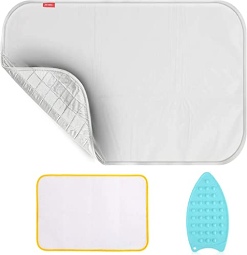 Upgraded Thick Ironing blanket,Travel Ironing Mat Ironing Pad,Portable Double-Side Using,Isolate Heat Pad Cover for W...