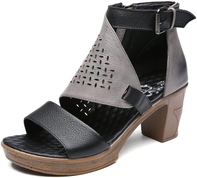 Ximu Sommer High Heel Roman Schuhe Starke Ferse Wasserdichte Tisch Frauen Sandalen