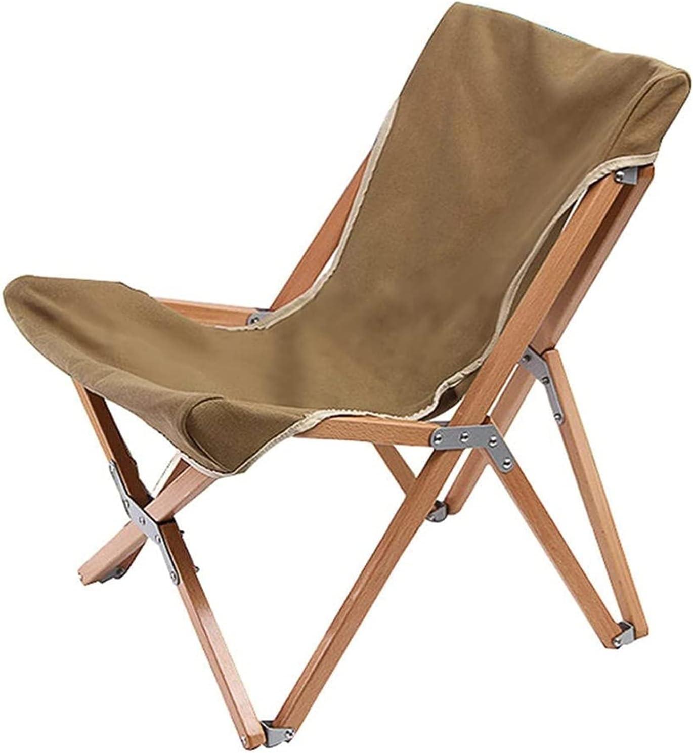 ZHJ New Orleans Mall Picnic Max 55% OFF Chair Folding Porta Canvas Garden Beech