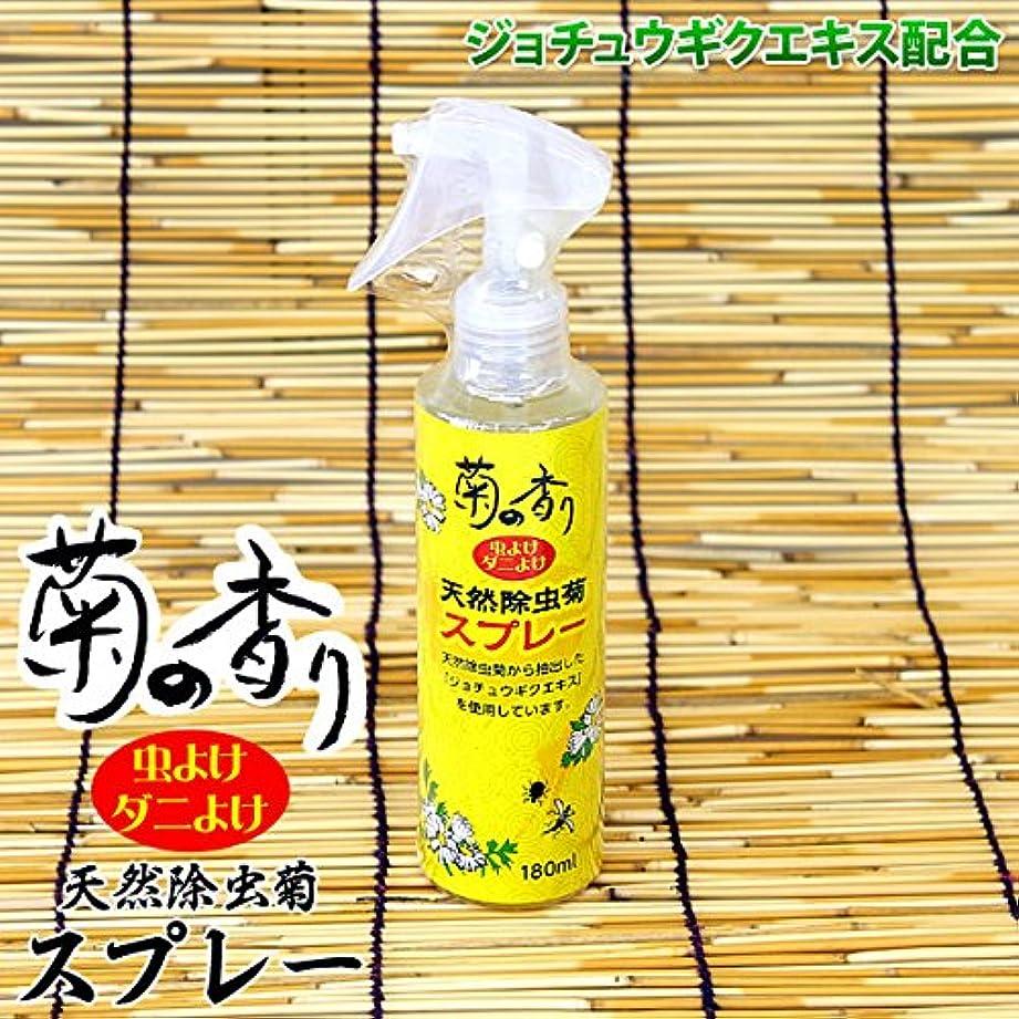 親密な逆説気味の悪い菊の香り 天然除虫菊スプレー 180ml 天然成分を使用した虫よけスプレー!