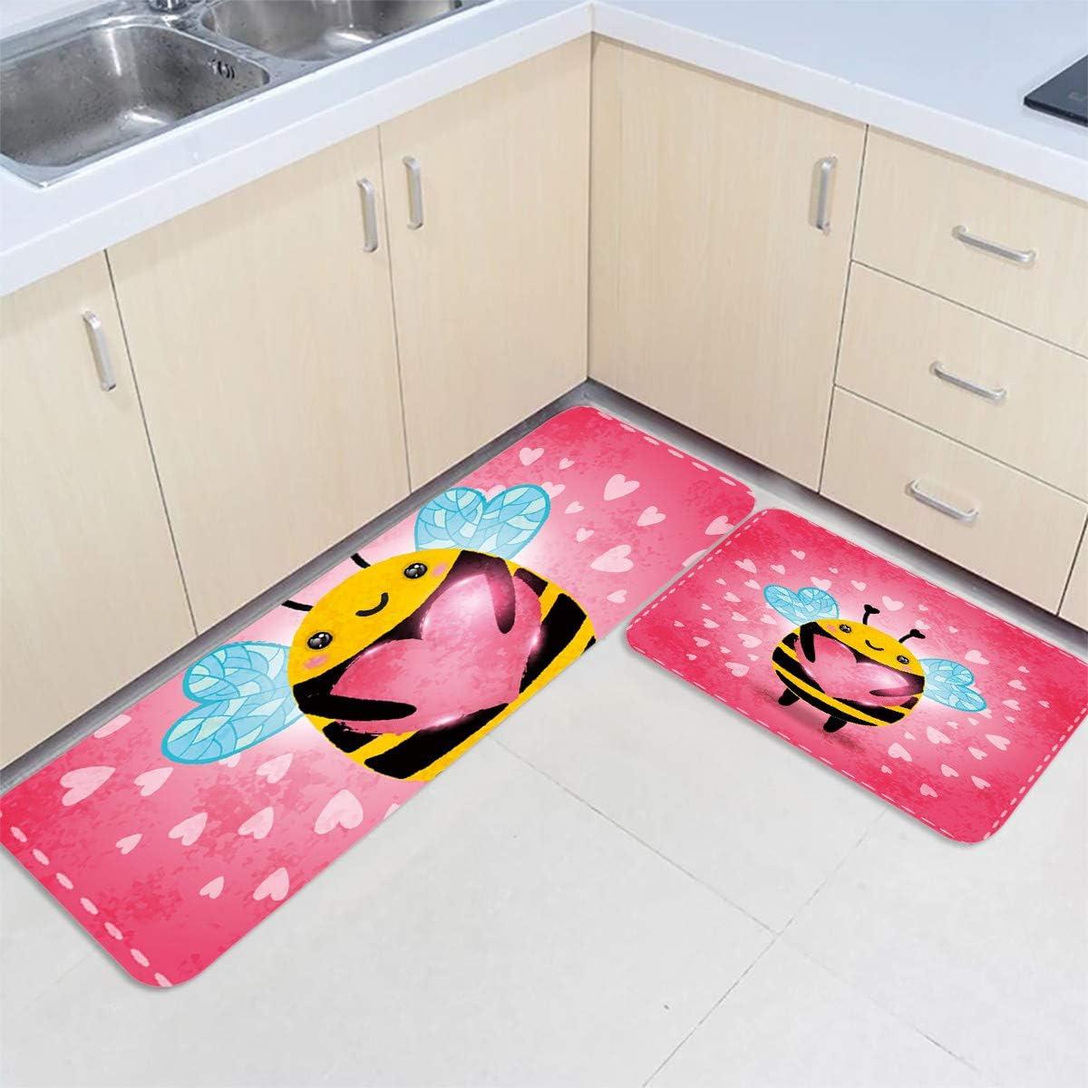 IDOWMAT Kitchen Long Beach Mall Mat Set of Premium Cheap Non-Slip Floor 2